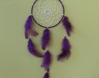 Purple dream catcher 15 native American hand-Deco done cm