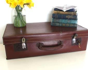Vintage Retro Brown Suitcase