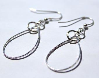 Handmade Silver Tear Drop earings