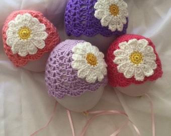 Beanie, baby girl, Daisy, Easter, hat, baby gift, baby shower , handmade Australia, made to order