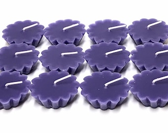12 Pack of Scented Floating Purple Candles You Pick The Fragrance