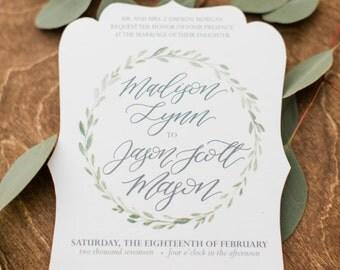 The Madison Wedding Invitation Suite- Digital Download
