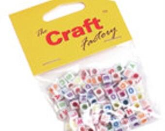 Craft Factory CF156 Beads Alphabet Coloured PK 100