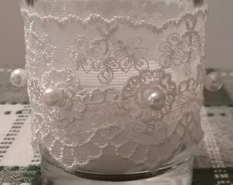 Pearl Lace Candle Holder