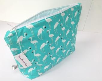 Extra Large Size Flamingo Toiletry Bag