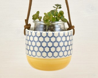 Planter for small pot Riviera - orange color