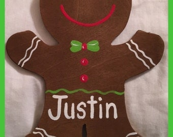Hand-painted Gingerbread Man Ornament