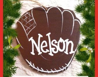 Hand-painted Baseball Glove Ornament