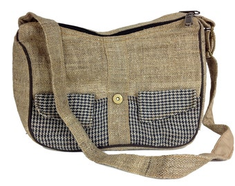 Hemp Purse. Handmade Hippie shoulder bag. Natural, Great Bohemian purse.  Hobo purse. Ladies Hemp bag.