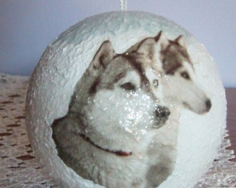 Christmas ball ornament with animals