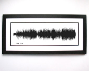 Next to Me Lyrics Sound Wave Art, Gift for Musicians, Music Lovers, Men, Women, Print, Framed Print, Canvas