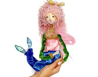 Mermaid doll posable OOAK mermaid doll collectible mermaid with legs mermaid art doll mermaid sculpture kids toy fairy mermaid mermaid tail
