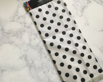 Clear with Black Polka Dot Treat Bags with Twist Ties