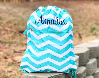 Drawstring Backpack - Pink Drawstring Bag - Purple Cinch Bag - Gym backpack - Personalized Cinch Sack - Monogram drawstring - Kids Gym Bag