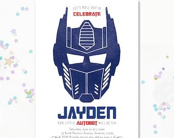 Optimus Prime Invitation, Transformer birthday Invite, Transformer invitation, Autobot invite, Optimus Prime, Transformers invite, BumbleBee