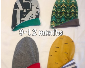 RTS Reversible Slouchy Beanies 9-12 months