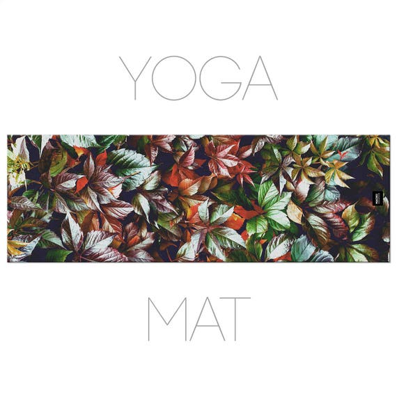 Leaves Yoga Mat, Nature Photography, Photo Yoga Mat, Printed Mat, Nature Decoration