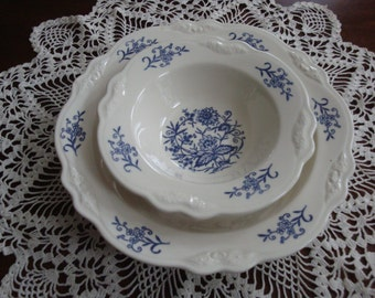 Homer Laughlin Imperial Blue DRESDEN Dinnerware China Bowl (3) Sizes Available!