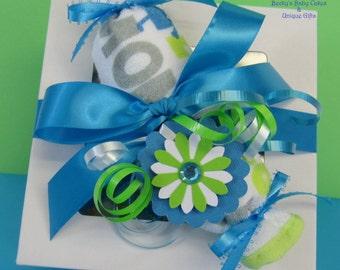 Baby Boy Gift, Baby Girl Gift, Baby Cupcakes, Shower Gift, Unique Baby Gift, Baby Gift Set, Washcloth Cupcakes, Onesie Cupcakes, Bib