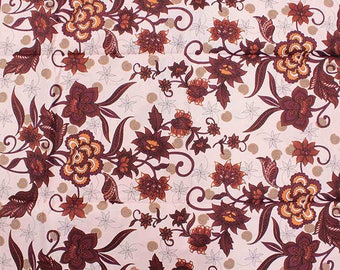 Floral Bouquet Print Fabric - 6 Yards
