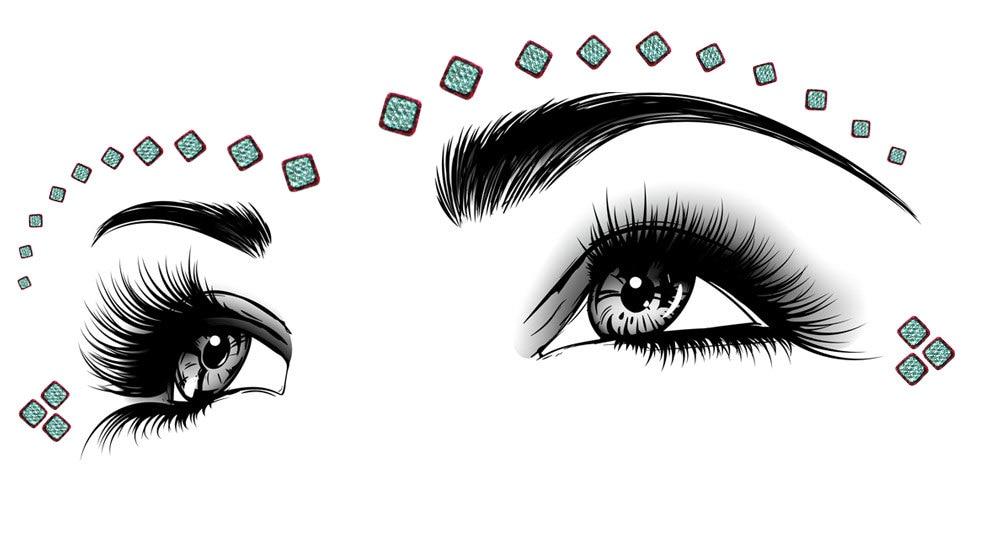 BridalBindis 30 Pack Bindi Face Tattoo Jewelry Gems Eye Corner Decorations  U0026 Make Up Silver Maroon