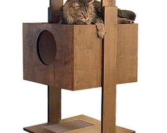 """86"""" PurrfecTrends Cat Tower with 2 Beddy Boxes"""