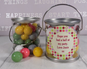 Diddy Pot - Bubblegum In A Pot - Wedding & Party Favour - Personalised Gift