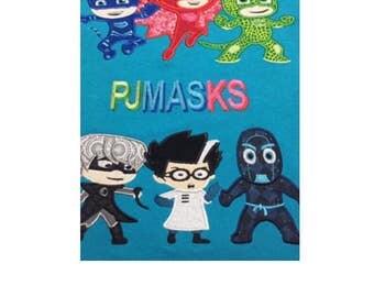 Custom PJ Masks Birthday shirt