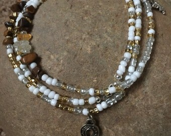 Tigers Eye and Citrine Waist Beads