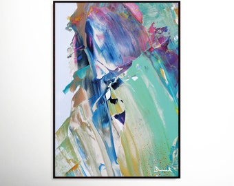 Abstract Art Print , Aqua Blue Abstract, digital downloads, Printable Abstract, instant download, Large Abstract Art, A1 Size, Large Prints