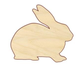 Rabbit Bunny Cutout  - 170148 - Unfinished wood, Various sizes, Wood Craft Shapes