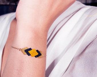 Bracelet Gaia Plaqué Or et Perles Miyuki