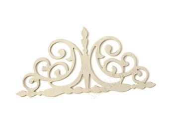 Set of Chipboard Curly Gate  Die cut outs, Embellishments, Scrapbooking embellishments or Choose your Color