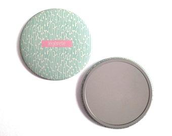 Round Pocket mirror 'Lightness' / Pocket mirror 'frivolously' - creation of Ginger in may