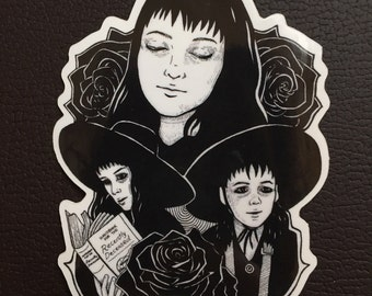Lydia Deetz Sticker, Beetlejuice Sticker, Vinyl Sticker