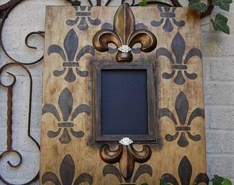 Decorative Fleur de Lis with BLING Picture Frame