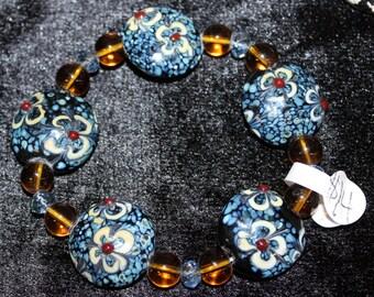 Flower Ceramic Stretch Bracelet