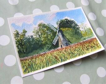 "Wicken Fen, Original Watercolour Paintings, 6"" x 4"""