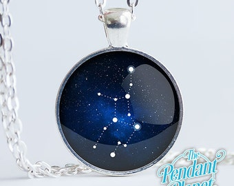 Constellation Necklace, VIRGO, astrology jewelry, gift for girl friend, gamers, crystal lovers, new age, metaphysical