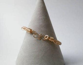 Champagne gold colour viking knit bracelet