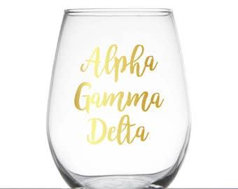 Alpha Gamma Delta Glass