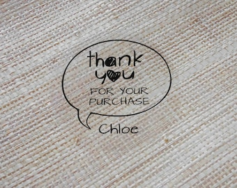 "100 x  Personalized ""Thank You for your purchasing""  custom Shipping Labels Stickers Seals / envelope seals #S04"