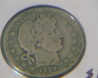 1914 P Barber Quarter (D769)