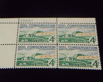 1959 Soil Conservation 4 cent Stamp