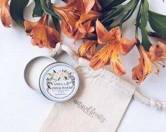 VANILLA & SANDALWOOD Solid Perfume | Natural Perfume Balm