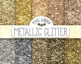 60% OFF SALE. Gold Glitter Digital Paper. Glitter Texture Scrapbook Background. Silver Metallic Sparkle Party Backdrop. Gold New Years Paper