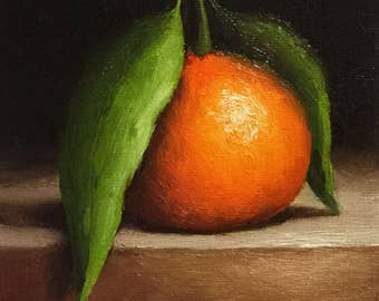 Clementine, Original Oil Painting still life by Jane Palmer