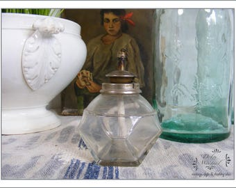 antique small french oil lamp - country living
