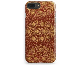 Red iPhone Case Gold Flower iPhone Case Style iPhone 6 Case Trendy iPhone 7 Case iPhone 7 Plus Case iPhone 6S Plus iPhone 4-5 Case iPhone SE