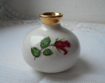 stunning vintage Limoges porcelain dolls house miniature porcelain vase